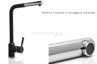 Czarna bateria kuchenna Titanum