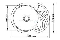 Zlewozmywak granitowy z okrągła komorą Solano 10 - wymiary